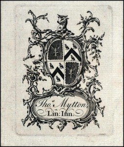 Blackstone bookplate border