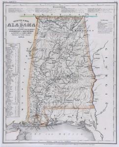Neueste Karte von Alabama. Meyer's-Hand Atlas of 1845