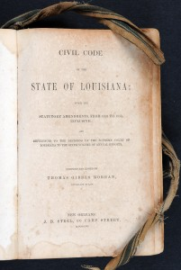 Title Page, Civil Code of the State of Louisiana, 1857
