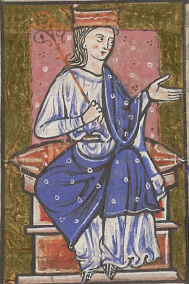 Aethelflaed as depicted in the cartulary of Abingdon Abbey