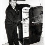 Image of Kenneth Roberts demonstrating refrigerator safety