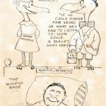Image of Woofus Birds cartoon concerning Robert's treatment following the shooting