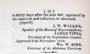 Image of 1818 Alabama territorial act.