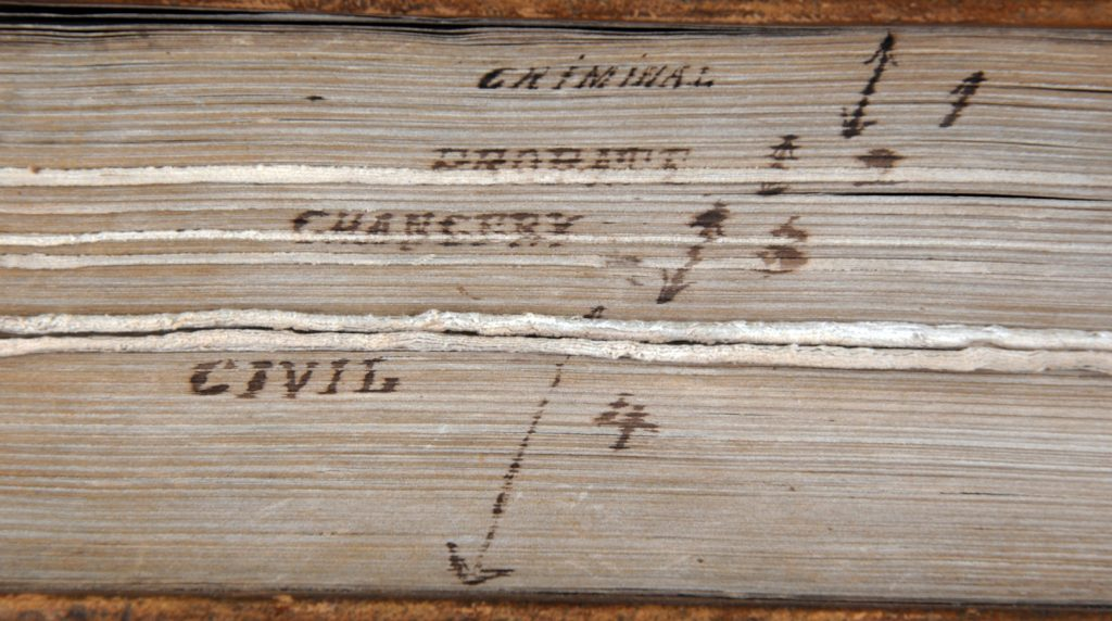 Shepherd's Digest inked fore-edge of the text block.