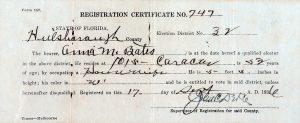 Anna Bates voter registration image.