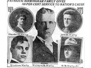 Image of Maud Kelly and family members.