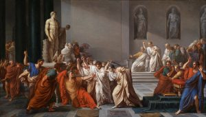Image of the death of Caesar.