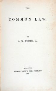 Image of title page from The Common Law