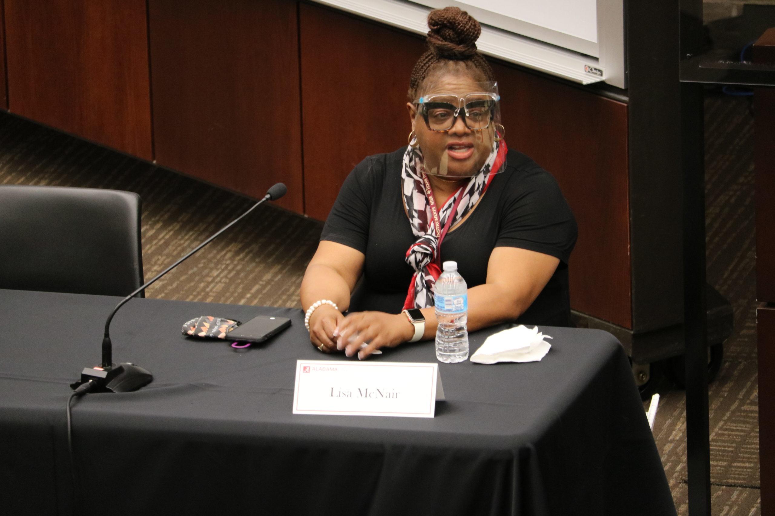 Lisa McNair speaks at Diversity Panel at Alabama Law