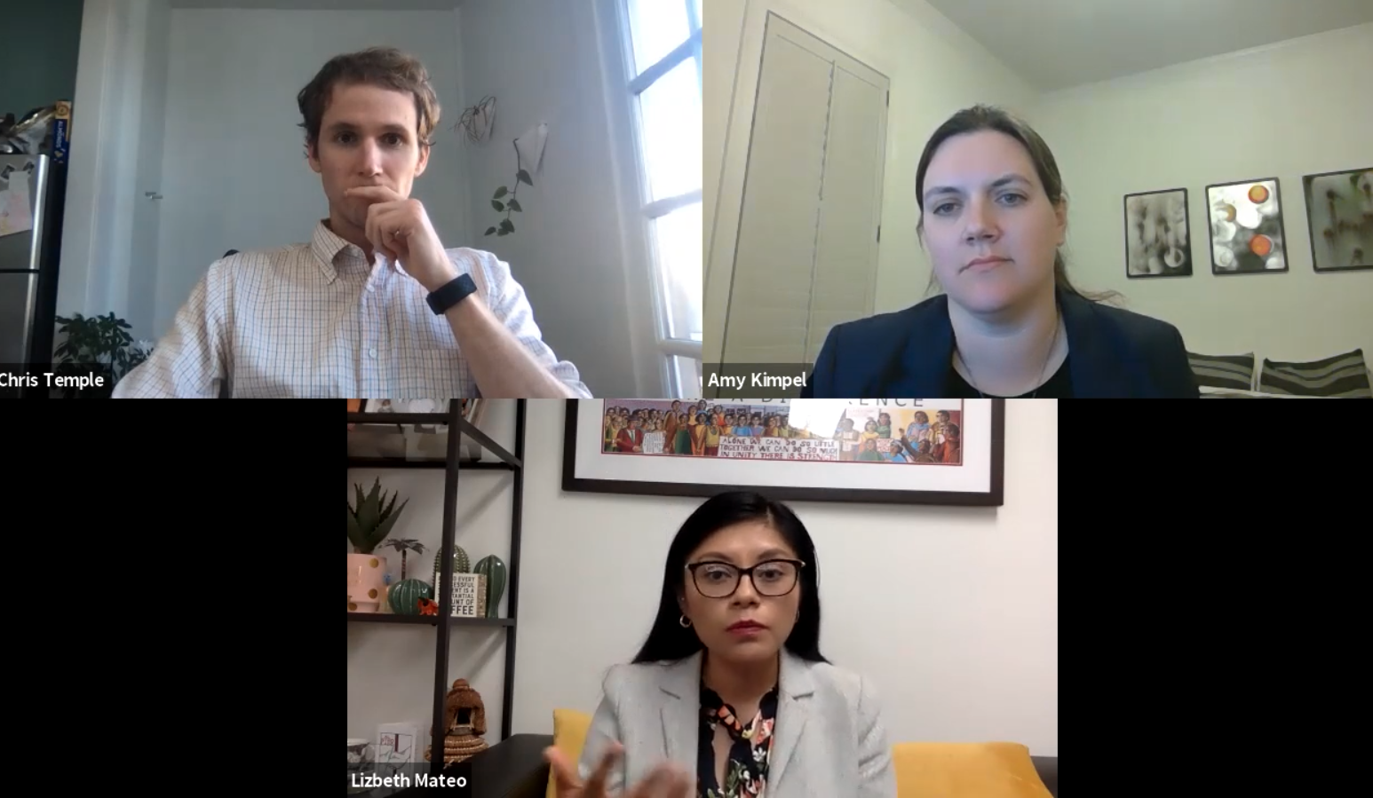 "Lizbeth Mateo and film director Chris Temple joined Professor Amy Kimpel and The University of Alabama Law School for a virtual Q&A about the ""The Undocumented Lawyer."""