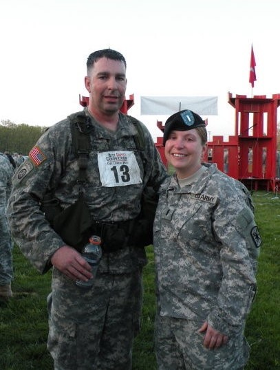 Scott and wife Beth in their uniforms