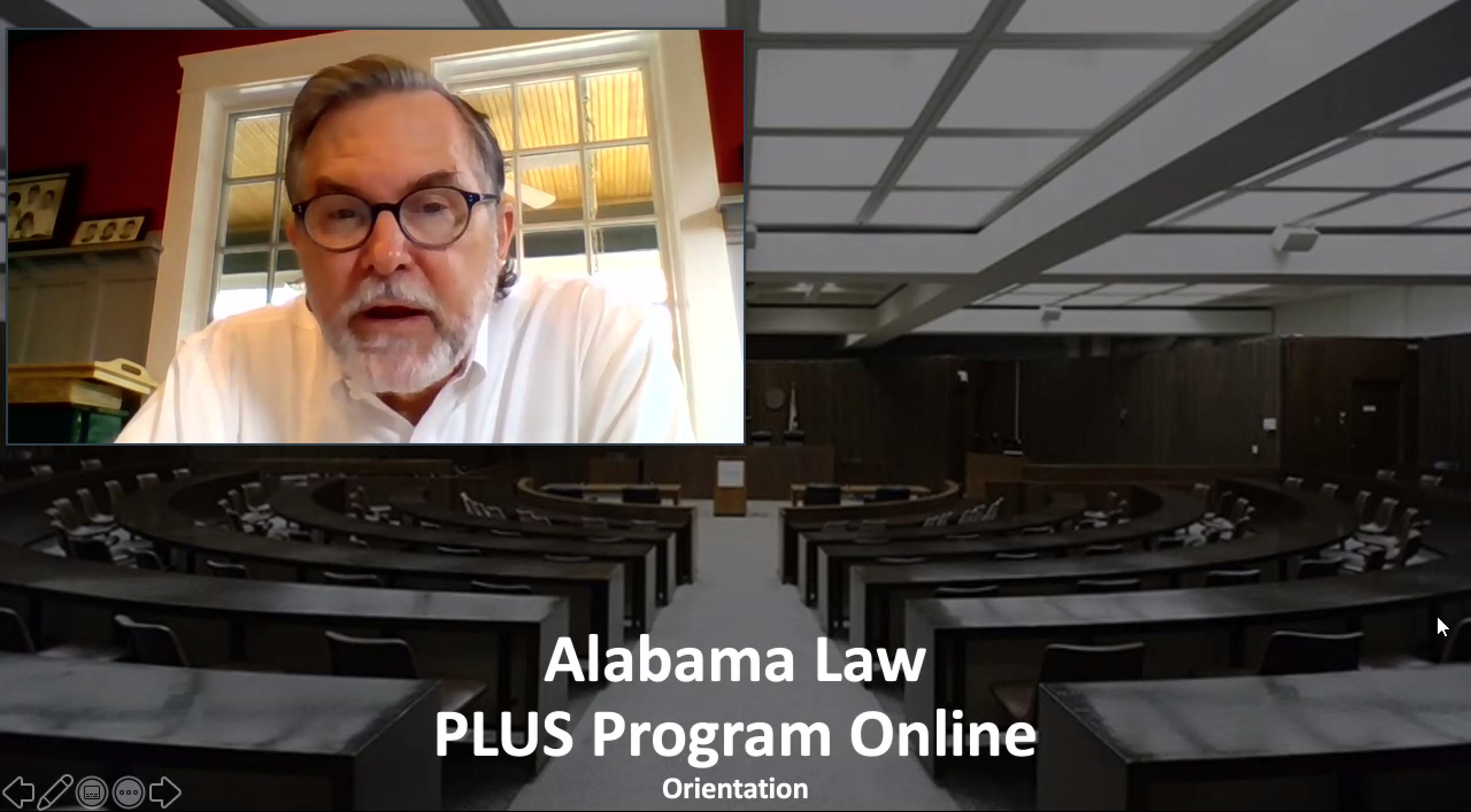 Dean Mark E. Brandon speaks to PLUS participants.