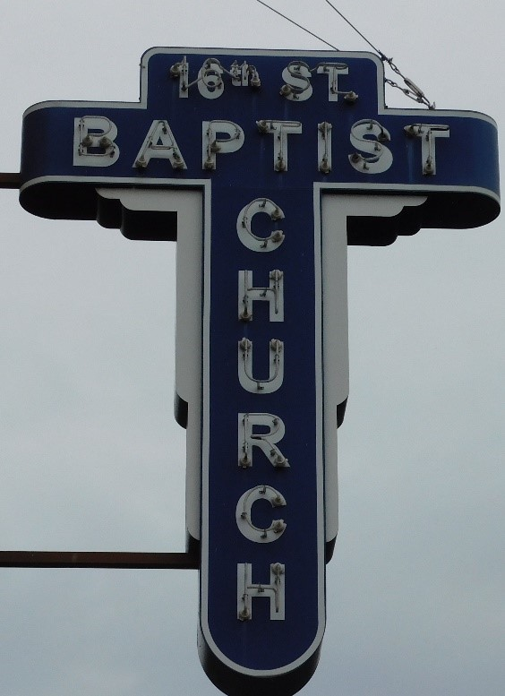 16 Street Baptist Church Sign